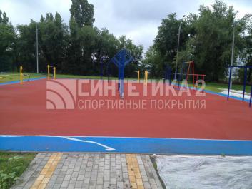 """Объект: """"Workout площадка"""" г. Нововоронеж, Синтетика-2 © 2014"""