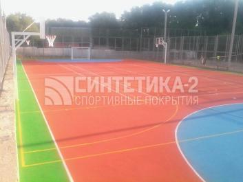 """Объект: """"спортивная площадка, г. Азов"""" г.Азов, Синтетика-2 ©"""